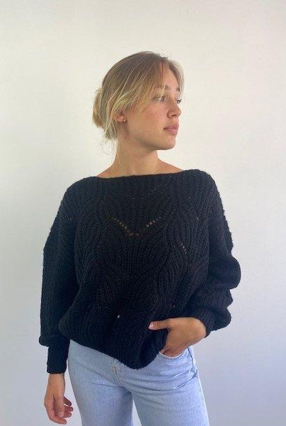 Emea ajour knit Black