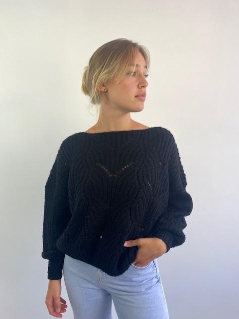 Emea ajour knit Black-1