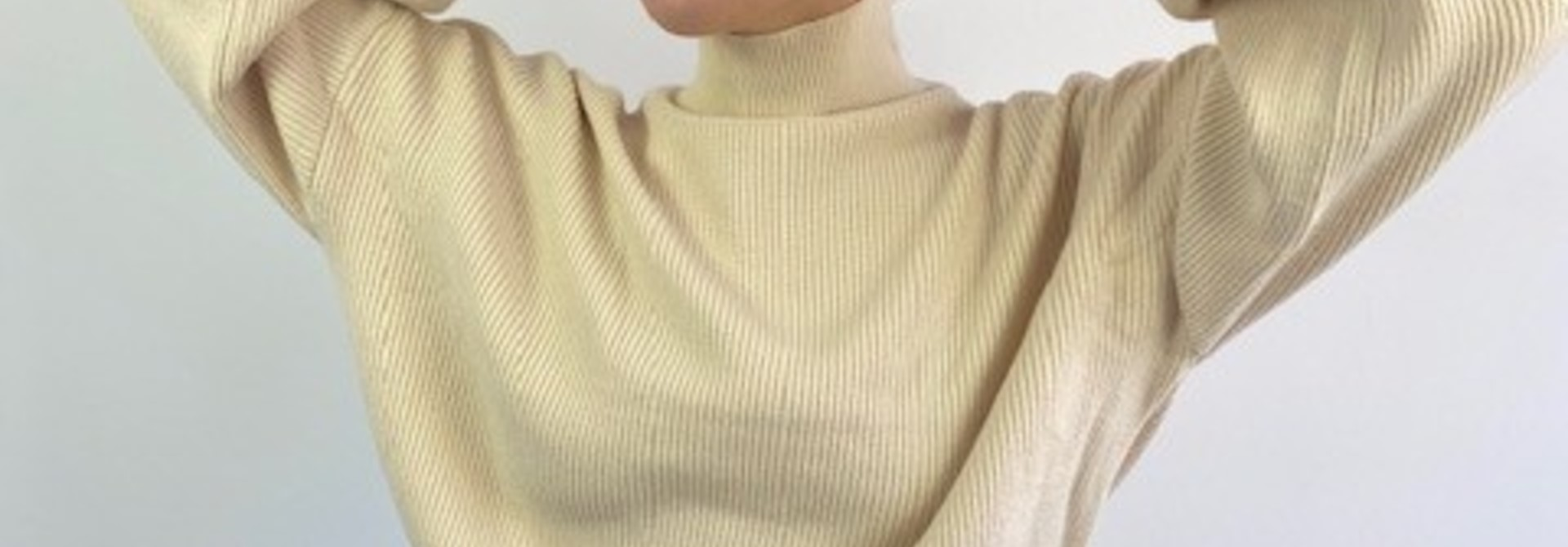 Miso knit balloon sleeve Beige