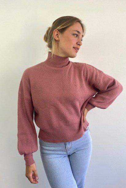 Miso knit balloon sleeve Rose