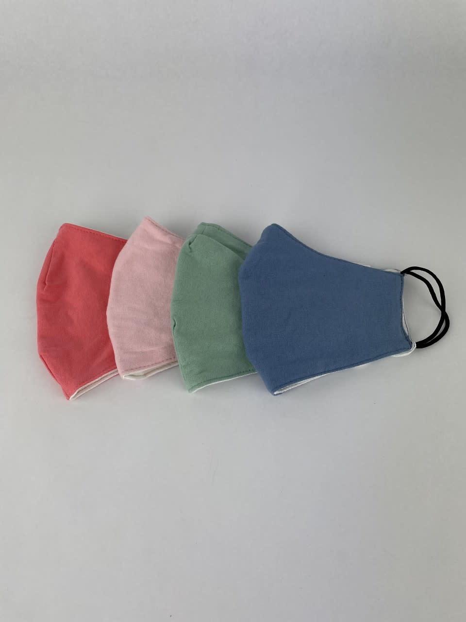 Vive cotton stretch face mask Pink-2