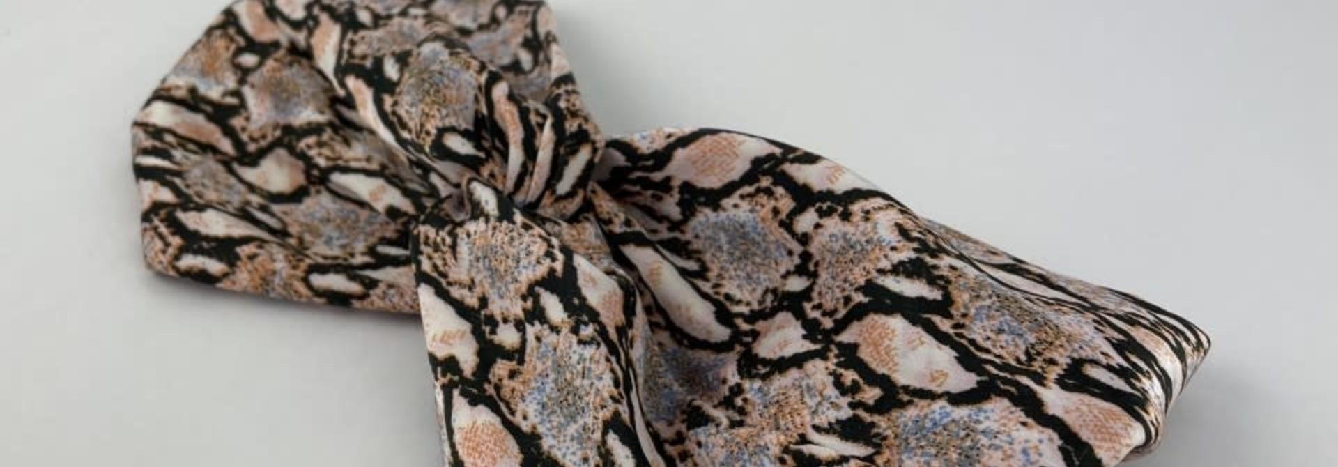 Morley satin hairband Sneak Coral