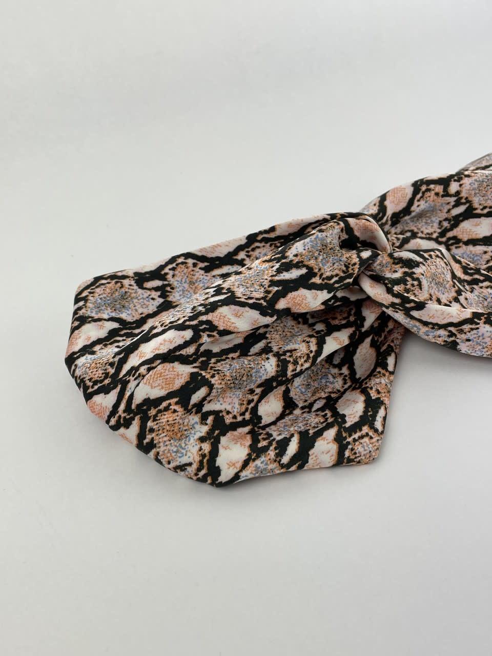 Morley satin hairband Sneak Coral-4