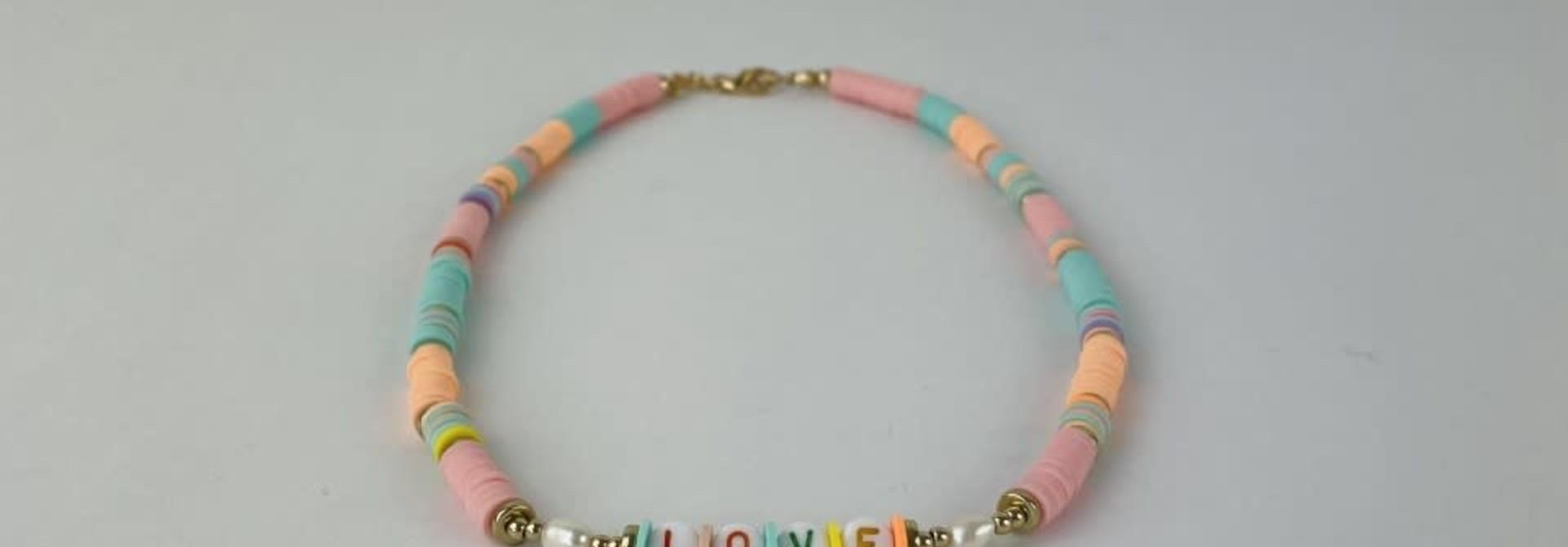 Rubberia fantasy necklace Pink