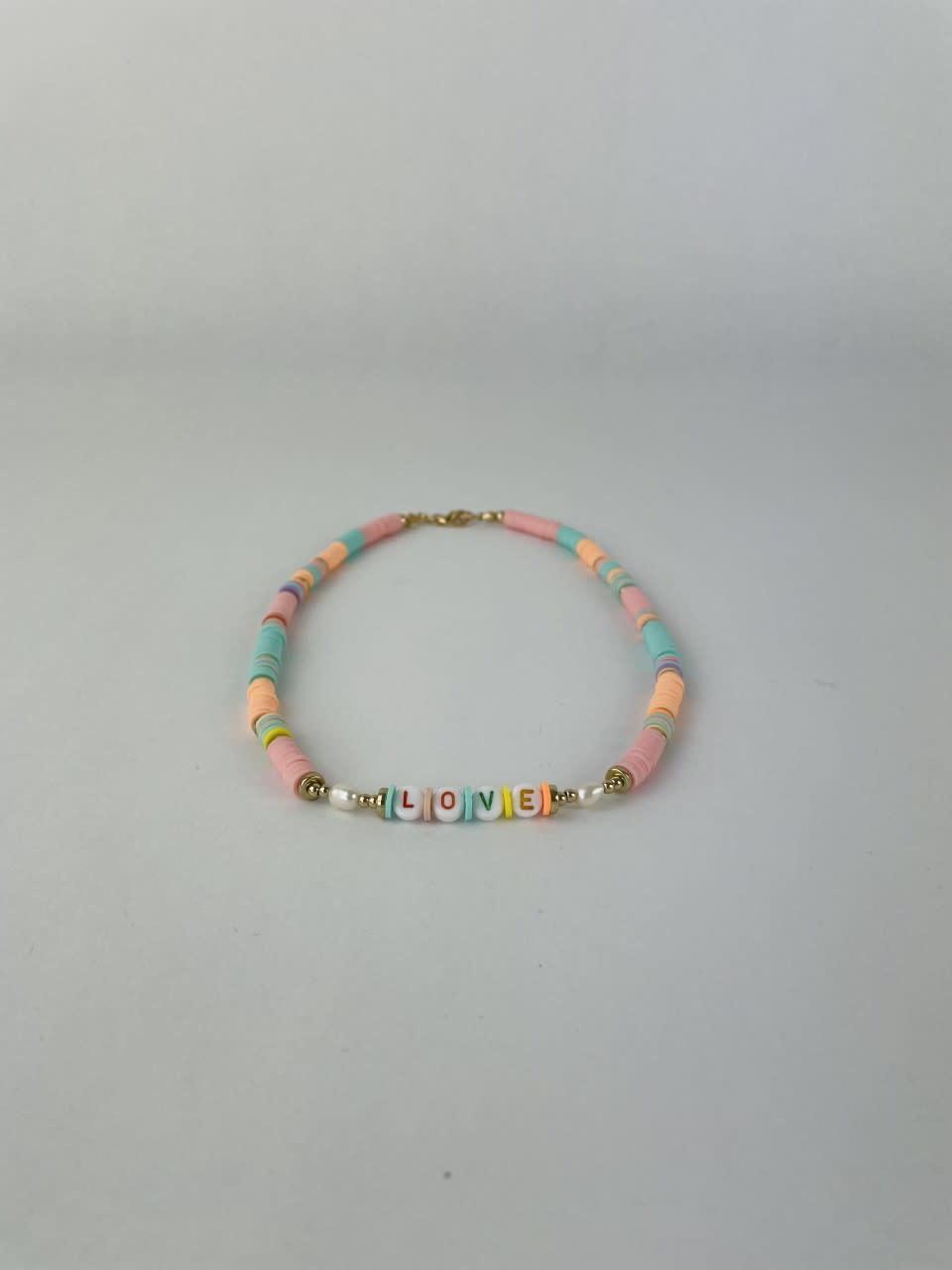 Rubberia fantasy necklace Pink-1