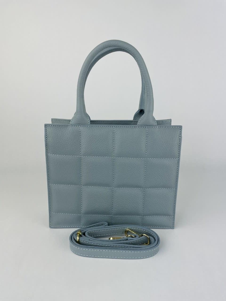 Metora leather bag Light Blue-2