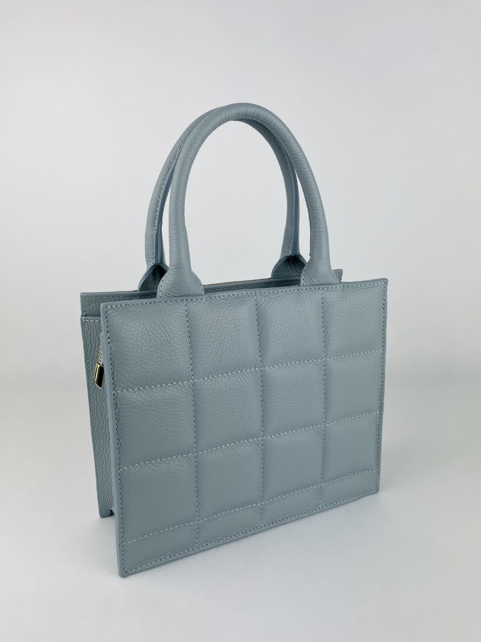 Metora leather bag Light Blue-4