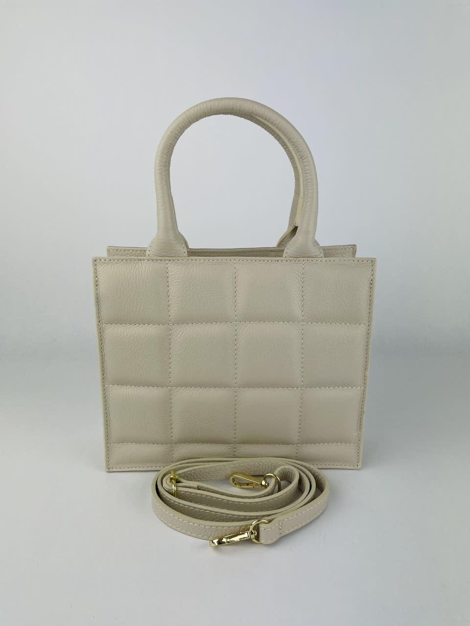Metora leather bag Broken White-2