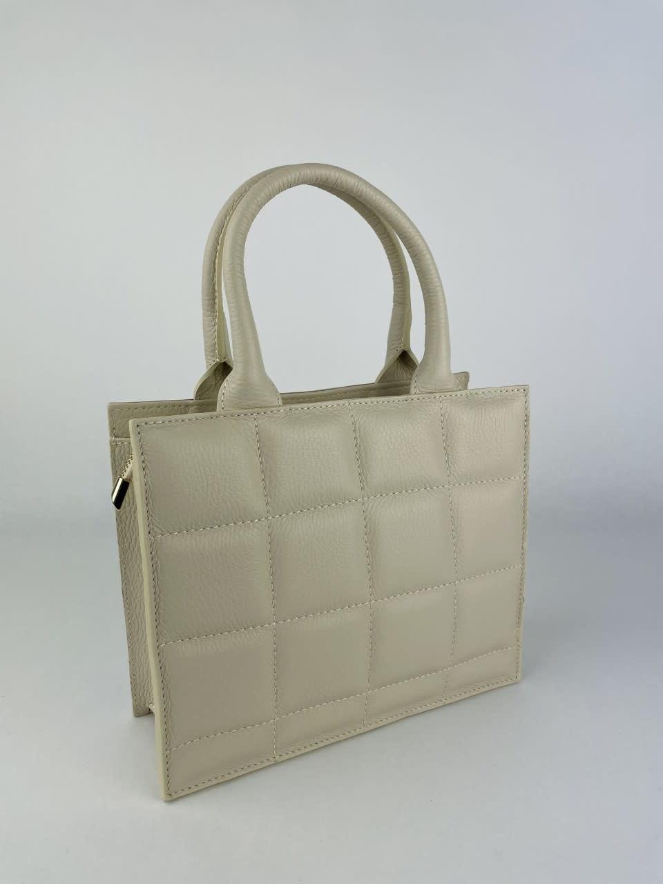 Metora leather bag Broken White-3