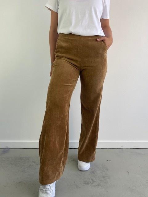 Charro corduroy wide pant Camel-5