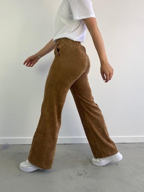 Charro corduroy wide pant Camel-4