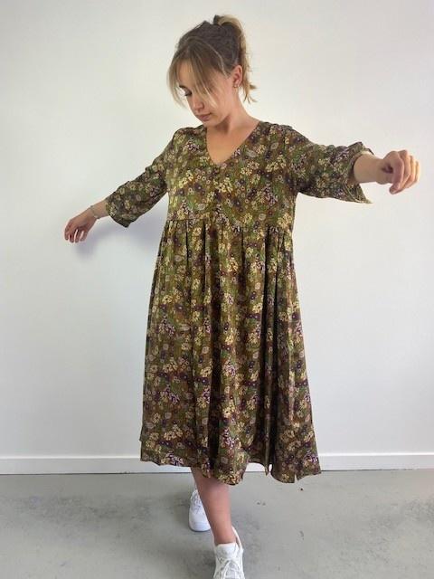 Noëllin satin midi dress Camel-3