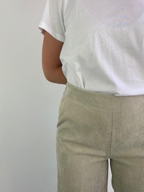 Charro corduroy wide pant Beige-2