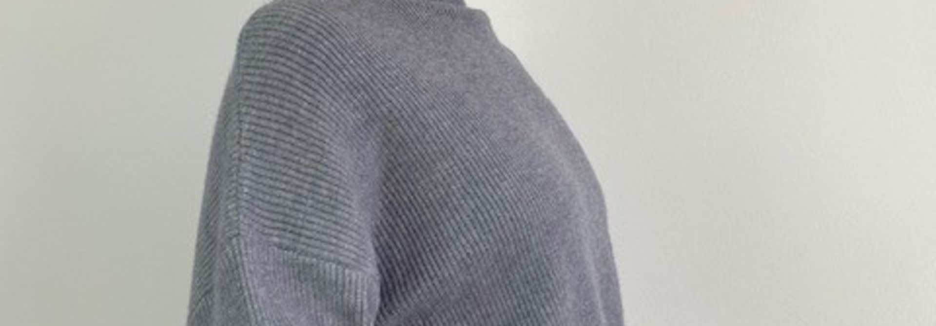 Miso knit balloon sleeve Grey