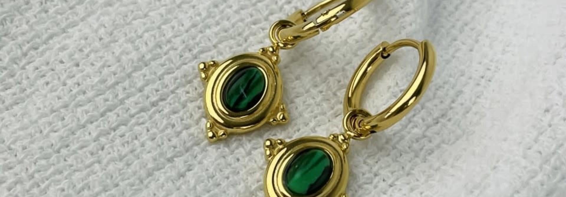 Mirhy earrings Green