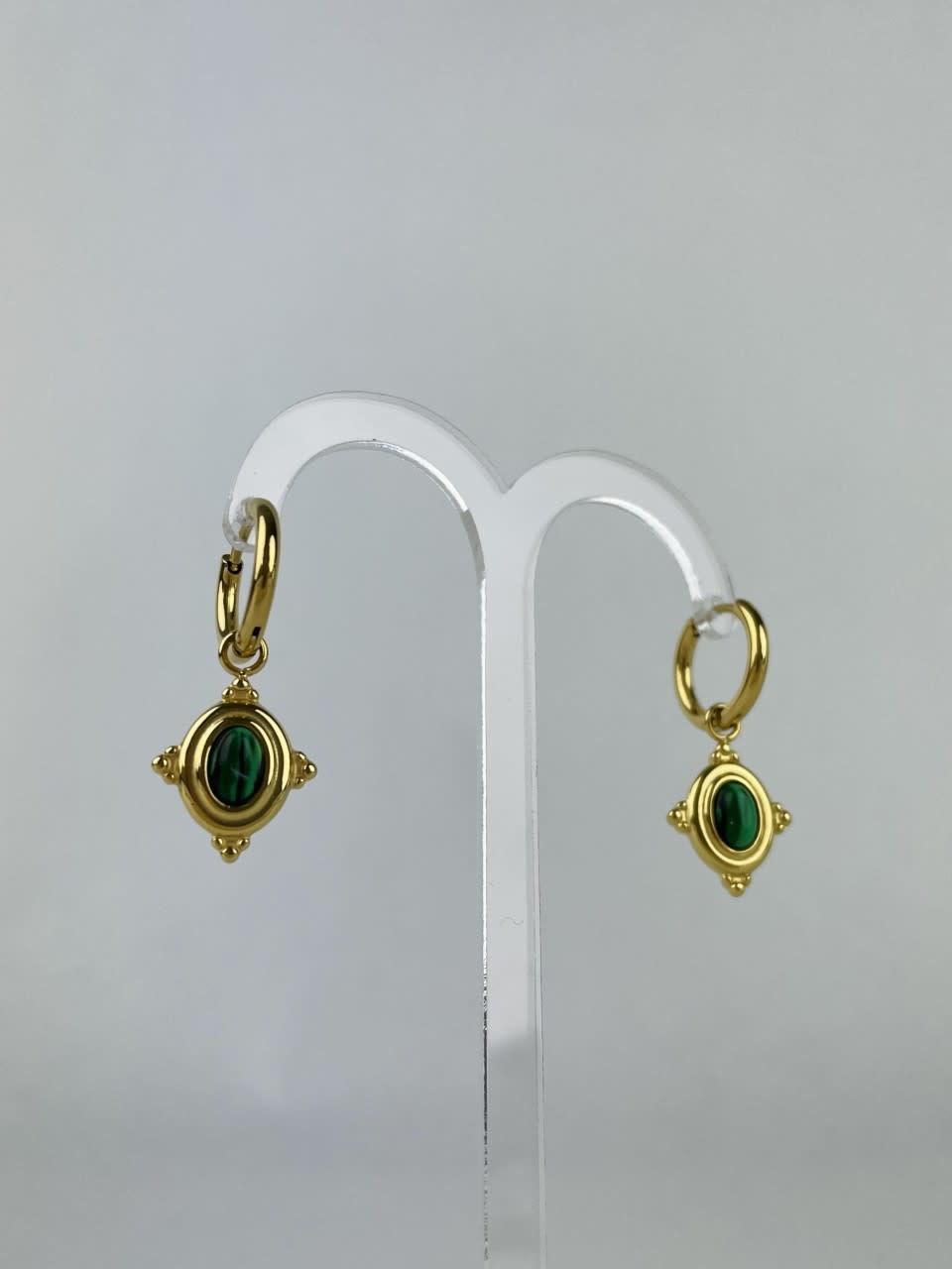 Mirhy earrings Green-2