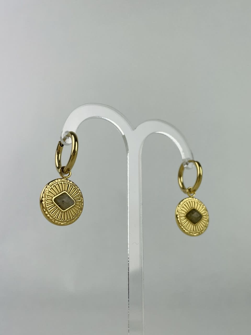 Leres earrings Taupe-2