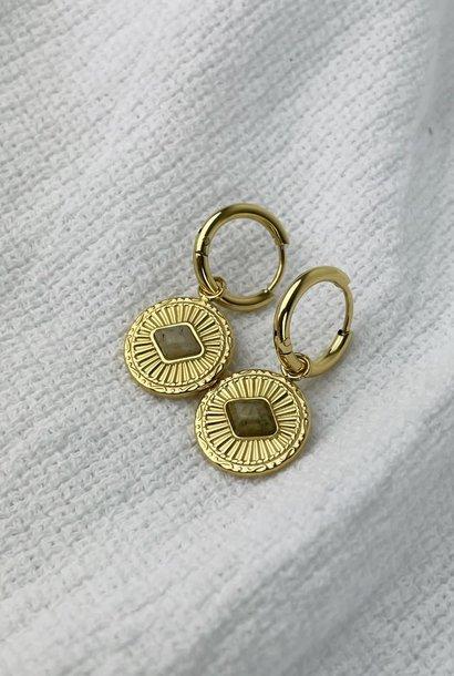 Leres earrings Taupe