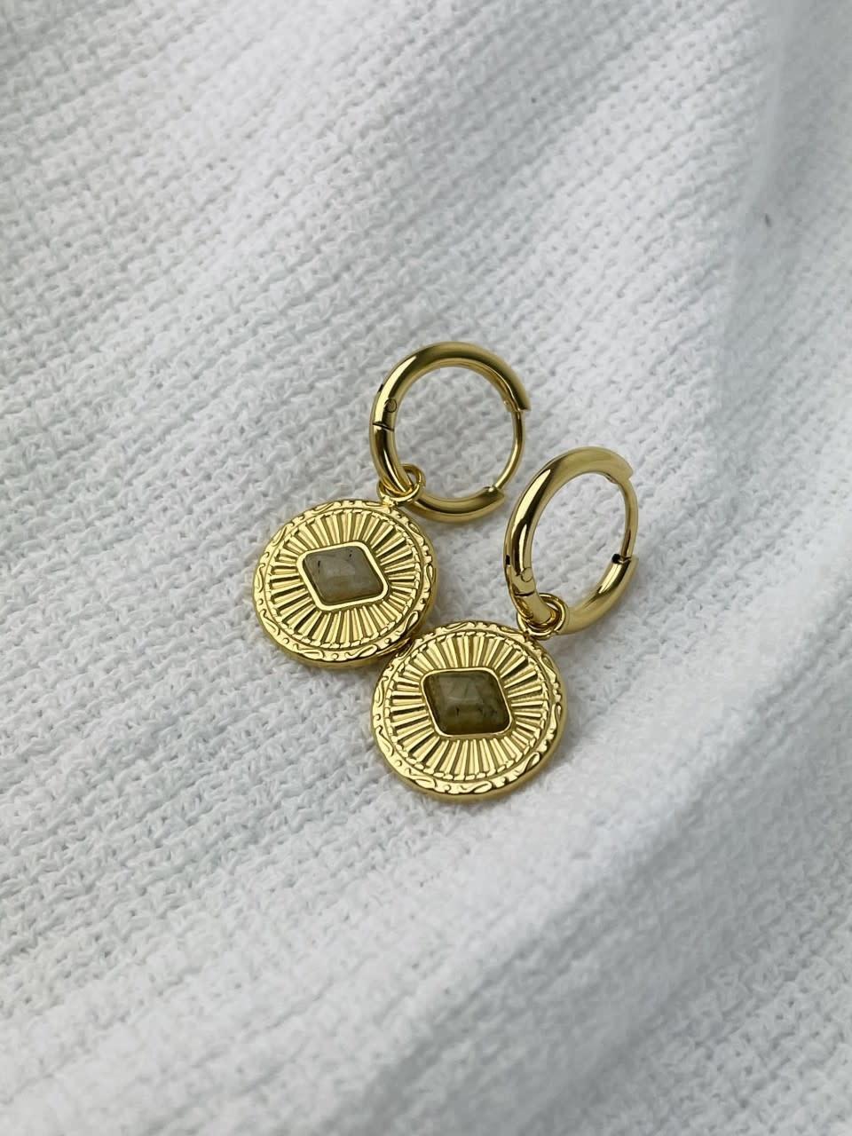 Leres earrings Taupe-1