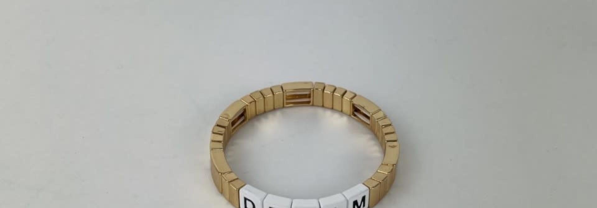 Dream cubes bracelet Gold