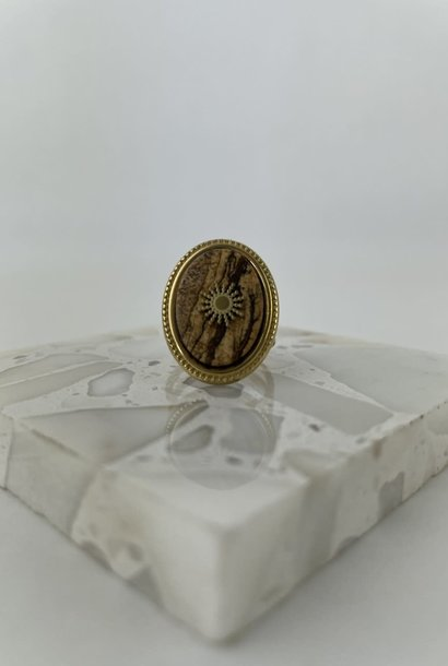 Cezali oval ring Brown
