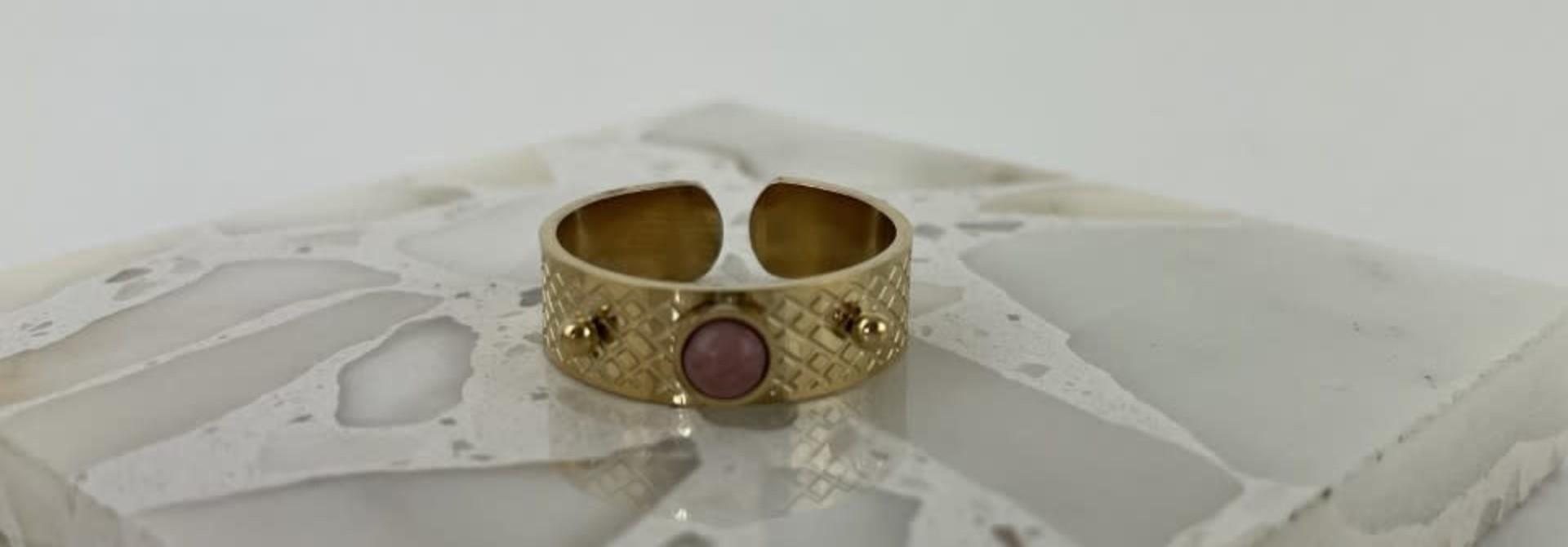 Ayara inscribed ring Violet