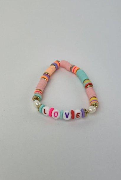 Rubberia fantasy bracelet Love Pink