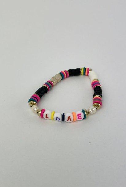 Rubberia fantasy bracelet Love Black