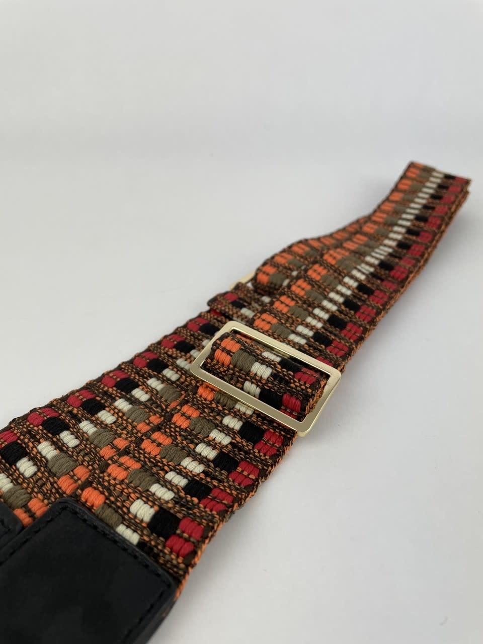 Ilmya woven shoulder strap Orange-2