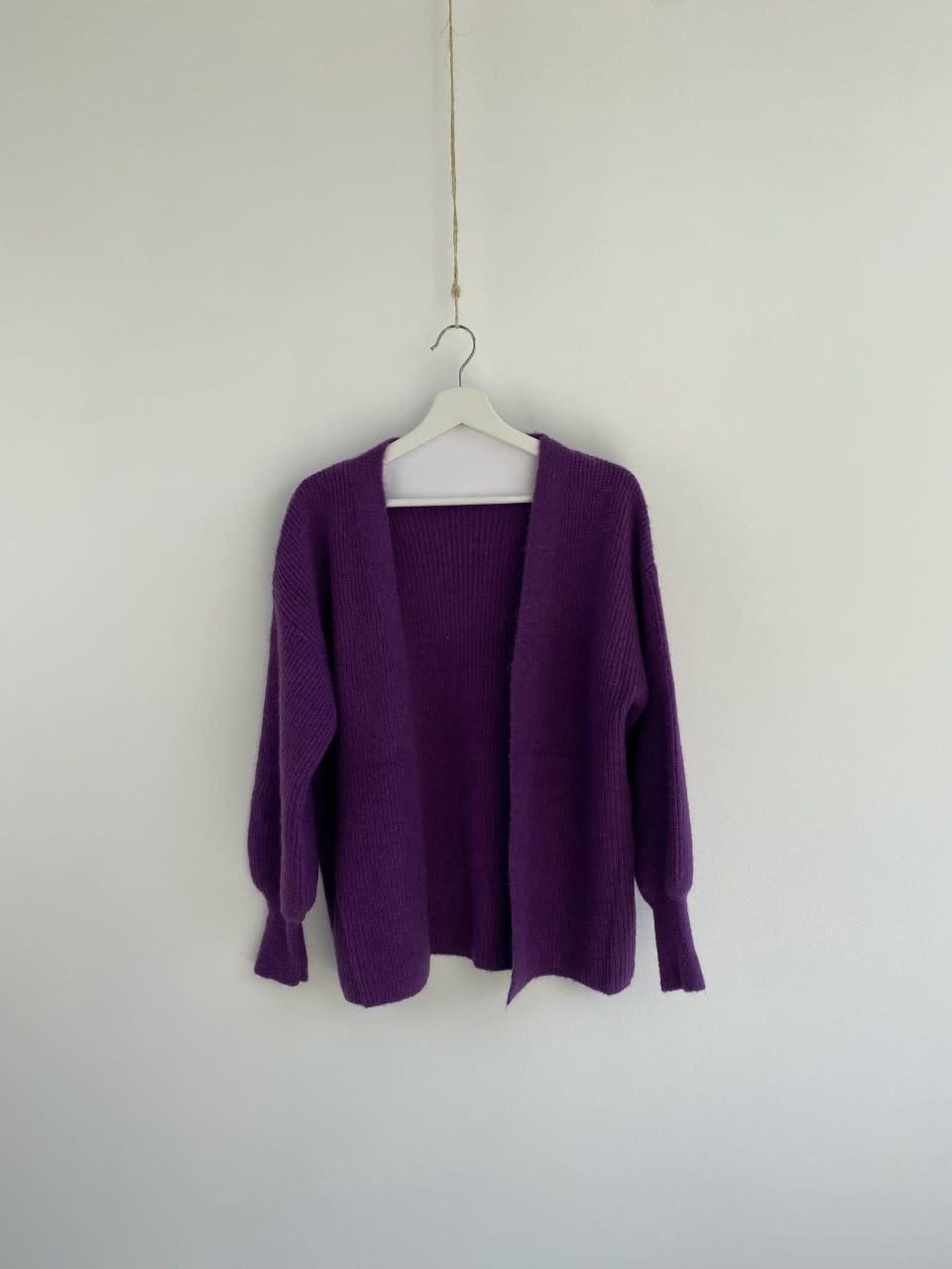Flo bernadette ballon sleeve Bright Purple-2