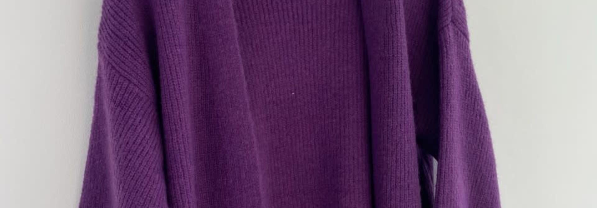 Flo bernadette ballon sleeve Bright Purple