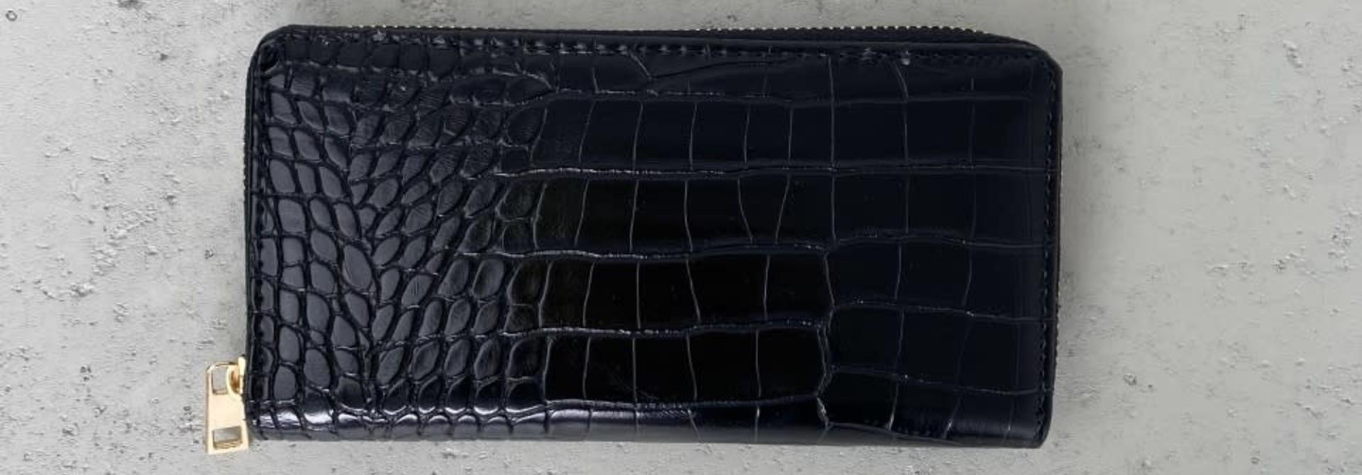 Thylin croco wallet Black