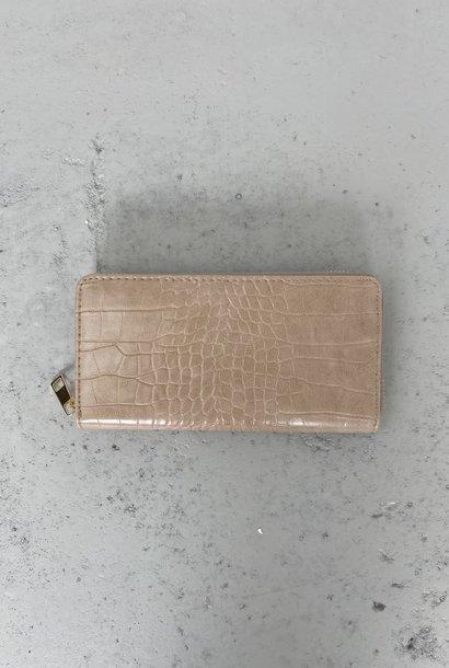 Thylin croco wallet Beige