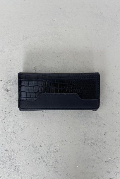 Luigina croco wallet Black