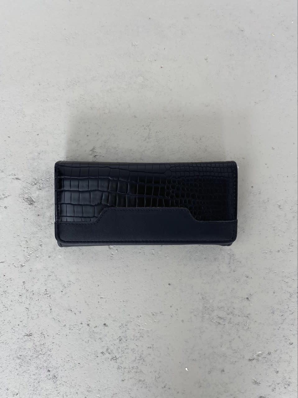Luigina croco wallet Black-1