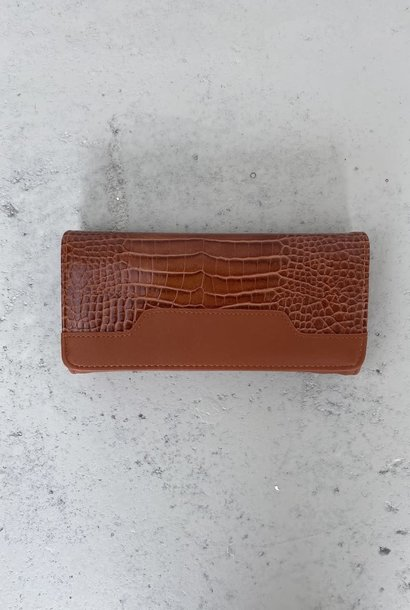 Luigina croco wallet Camel
