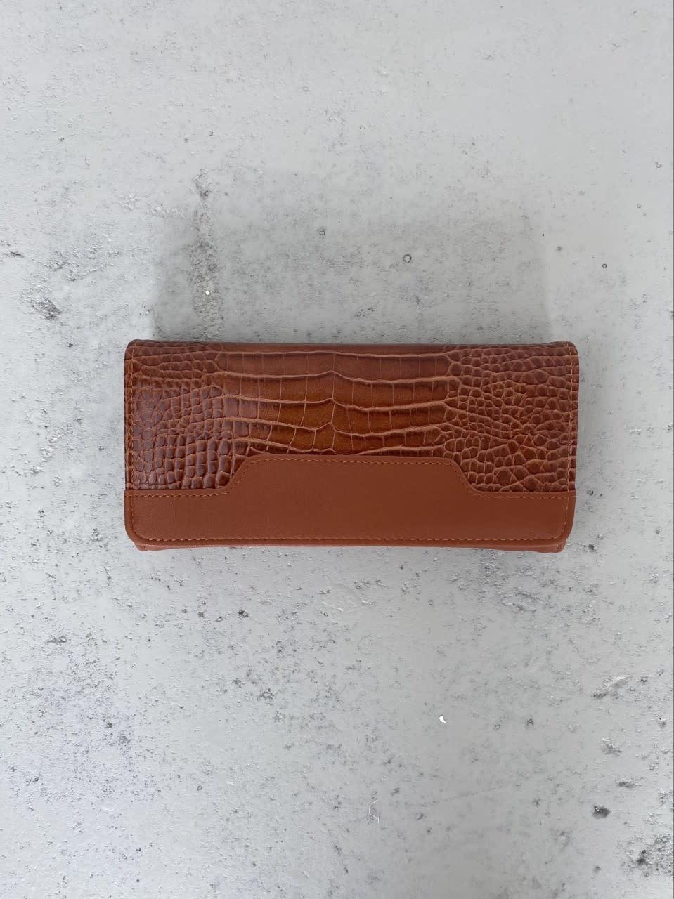 Luigina croco wallet Camel-1
