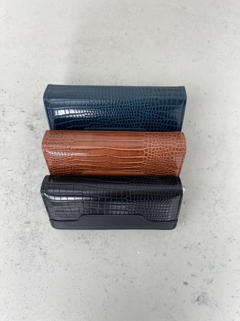 Luigina croco wallet Black-2