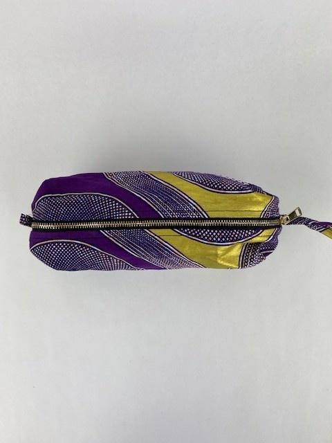 Mistoux etnic gold bag Purple Mesh-3