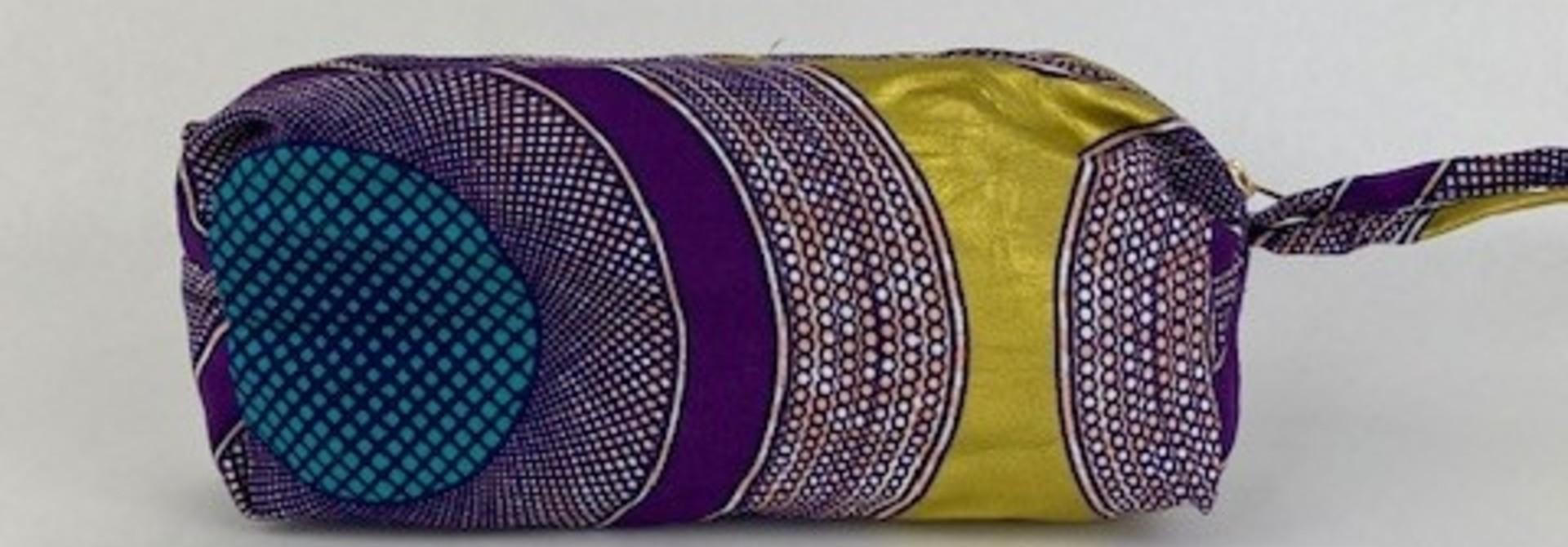 Mistoux etnic gold bag Purple Mesh