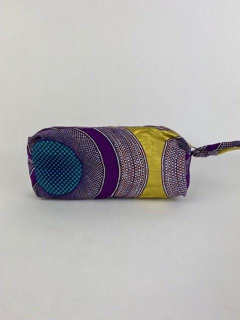Mistoux etnic gold bag Purple Mesh-1