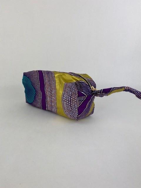 Mistoux etnic gold bag Purple Mesh-2