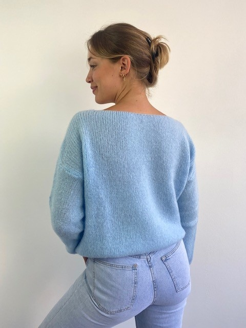 Femme essential  cardigan Light Blue-2