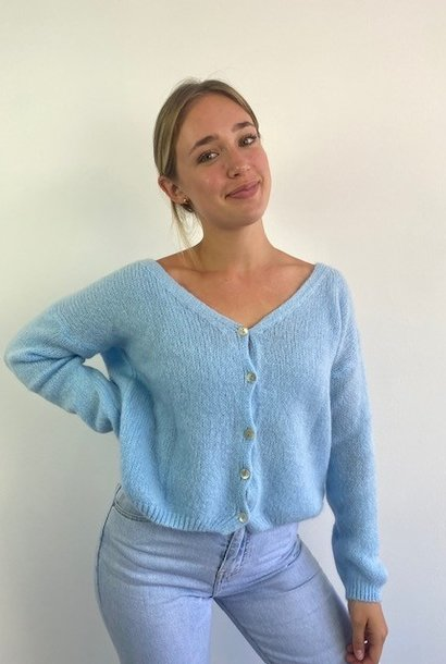 Femme essential  cardigan Light Blue
