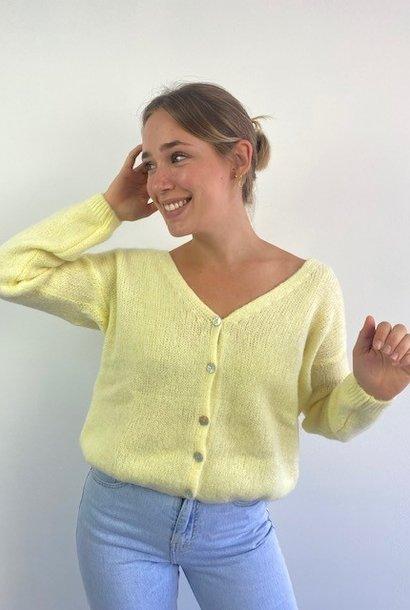 Femme essential  cardigan Soft Yellow