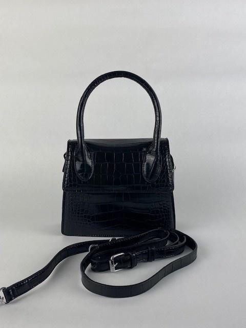 Minou little croco bag Black-3