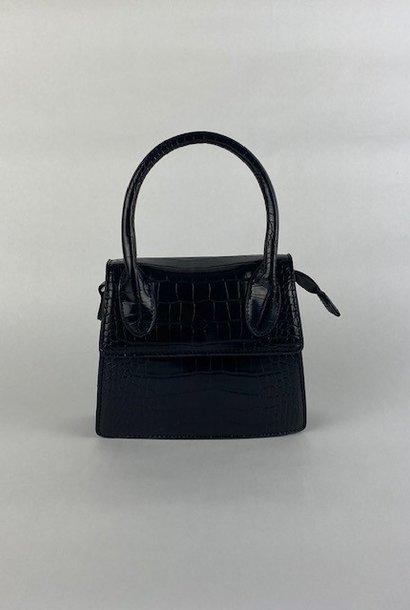 Minou little croco bag Black