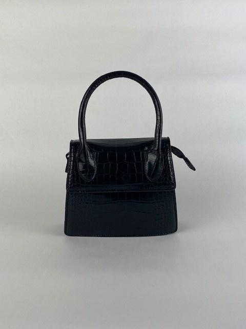 Minou little croco bag Black-1