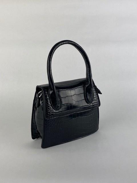 Minou little croco bag Black-2