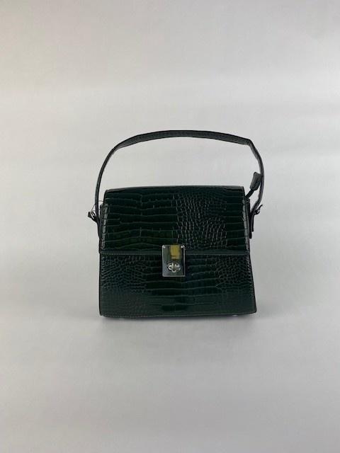 Delfine big croco bag Green-1